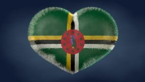 Heart of the flag of Dominica. vector illustration