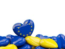 Heart with flag of european union Royalty Free Stock Photo