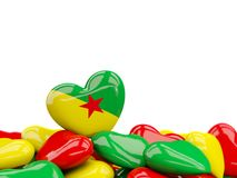Heart with flag of french guiana Stock Images