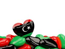 Heart with flag of libya Royalty Free Stock Photos