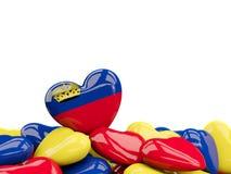 Heart with flag of liechtenstein Stock Photos