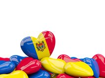 Heart with flag of moldova Stock Images