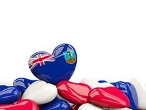 Heart with flag of montserrat Royalty Free Stock Image