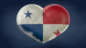 Heart of the flag of Panama. vector illustration