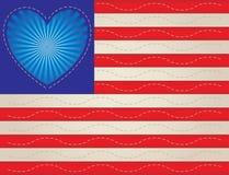 Heart Flag Quilt stock illustration
