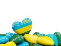 Heart with flag of rwanda Royalty Free Stock Photography