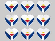 Heart with the flag of Sint Maarten. I love Sint Maarten. Vector Stock Images