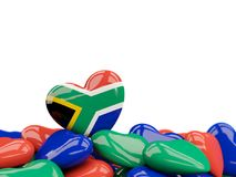 Heart with flag of south africa Royalty Free Stock Photography