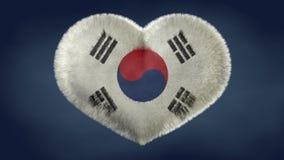 Heart of the flag of South Korea. Original image royalty free stock image