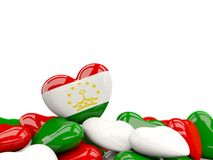 Heart with flag of tajikistan Royalty Free Stock Photography