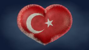 Heart of the flag of Turkey. Original image royalty free stock photos