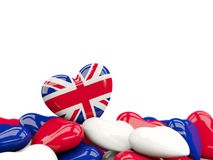Heart with flag of united kingdom Royalty Free Stock Images