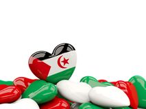Heart with flag of western sahara Stock Images