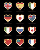 Heart flags Royalty Free Stock Image