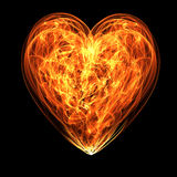 Heart in flame Stock Image