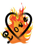 Heart on flames Royalty Free Stock Photography