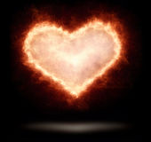 Heart in flames Stock Image