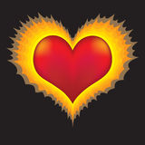 Heart in flames Royalty Free Stock Photo