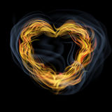 Heart of flames Royalty Free Stock Photos