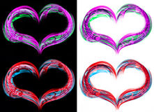 Heart flames Stock Photo
