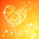 Heart with flashes of light. Royalty Free Stock Photo