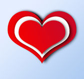Heart flat design. Red Heart flat design in Love concept Stock Image