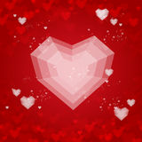 Heart flat Valentines day card vector background Royalty Free Stock Images