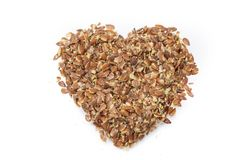 Heart of flaxseeds Royalty Free Stock Image