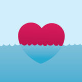 Heart Floating Water Stock Images