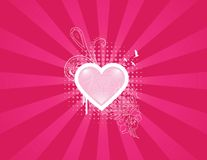Heart Floral Royalty Free Stock Images