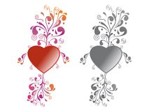 Heart Floral Royalty Free Stock Photography