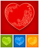 Heart with floral Royalty Free Stock Photography