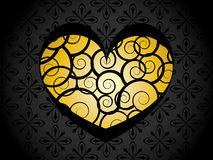 Heart on floral background Royalty Free Stock Photos