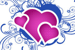 Heart with floral background Stock Image