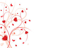 Heart floral background. Please check my portfolio for more valentines illustrations Stock Photo