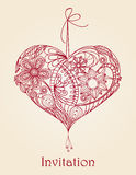 Heart floral design Royalty Free Stock Photo