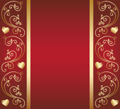 Heart floral design Royalty Free Stock Images