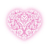 Heart with floral designs Stock Photo