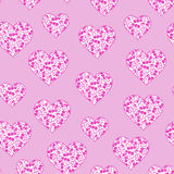 Heart Floral ditsy Stock Image
