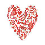 Heart with floral elements Royalty Free Stock Images