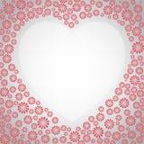 Heart floral frame Stock Image