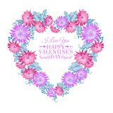 Heart floral frame. Royalty Free Stock Photo