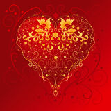 Heart with floral ornaments Royalty Free Stock Photos
