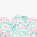 Heart floral pastel pattern, background with place. For your text. Vector illustration royalty free illustration