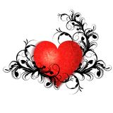 Heart with floral pattern Stock Photo