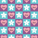 Heart floral seamless pattern Stock Photo