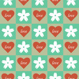 Heart floral seamless pattern Royalty Free Stock Photography