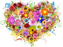 Heart floral shape Stock Photos