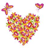 Heart floral shape Stock Image