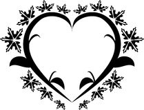Heart floral tattoo Stock Photography